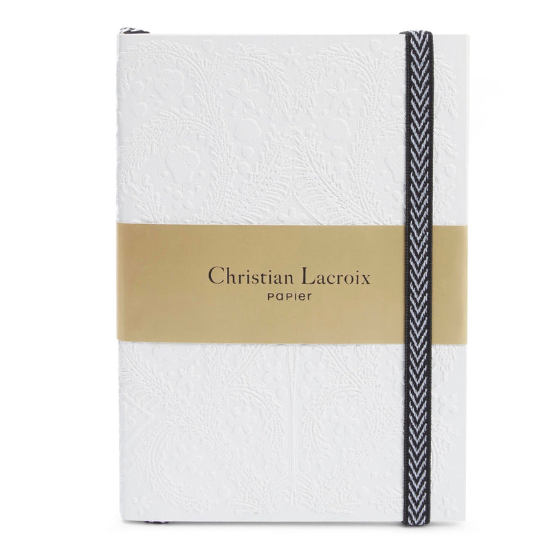 Christian Lacroix Embossed Paseo Notebook - White, GA-Galison, Putti Fine Furnishings