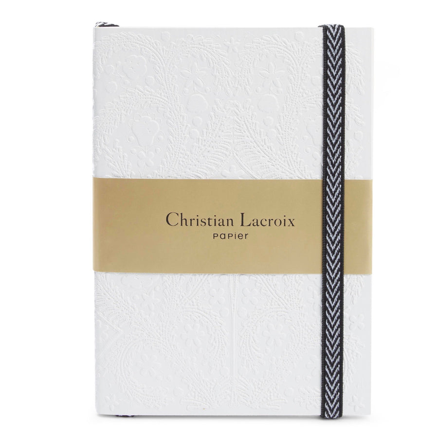 Christian Lacroix Embossed Paseo Notebook - White