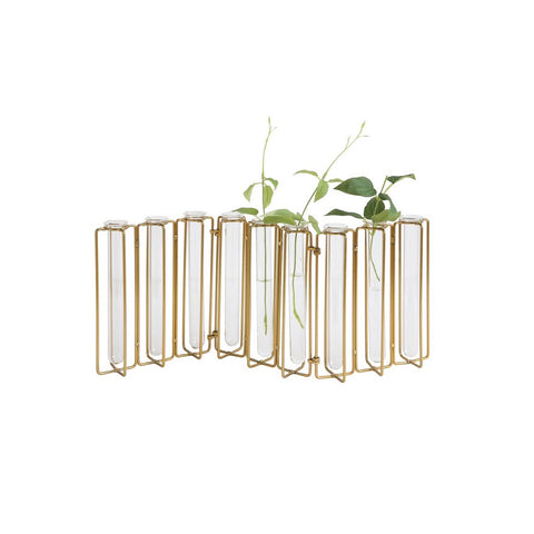 Metal and Glass Test Tube Jointed Vases, CCO-Creative Co-op - Design Home, Putti Fine Furnishings
