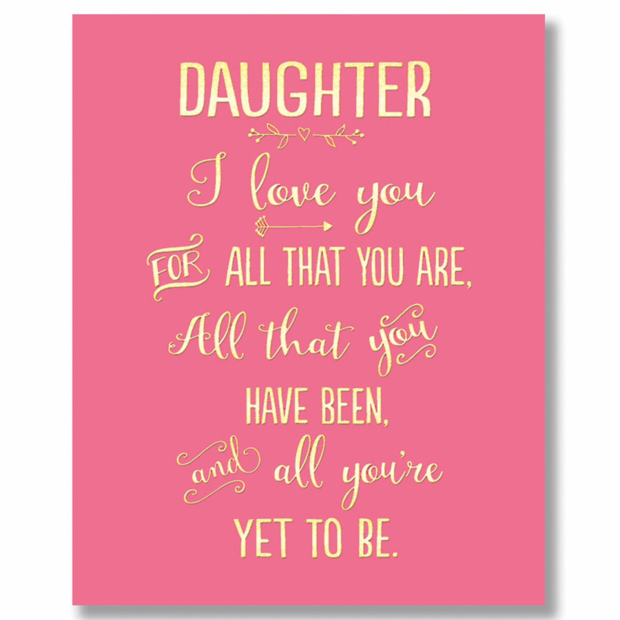 """Daughter I love you.."" Greeting Card"