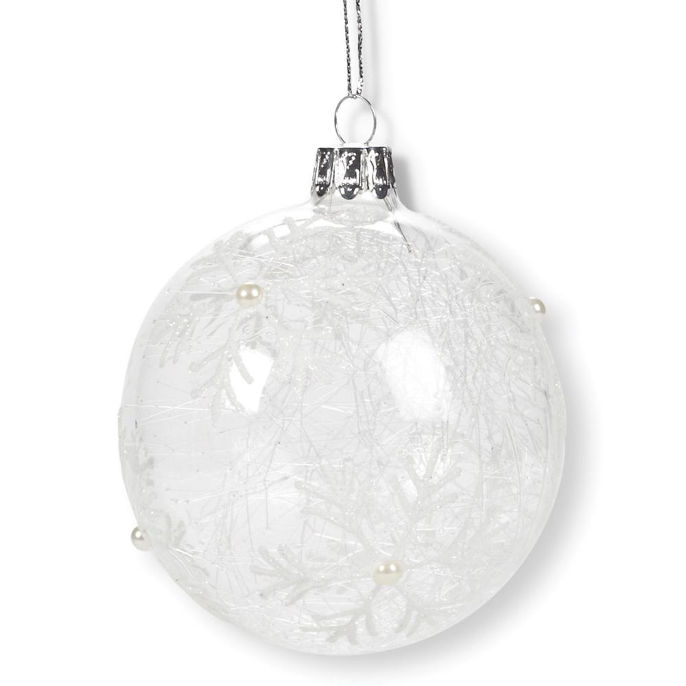 Clear Snowflake Ball Ornament