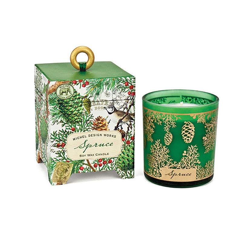 Michel Design Spruce Soy Wax Candle - 6.5oz | Putti Fine Furnishings