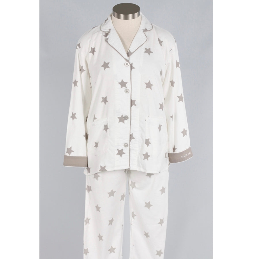 "PJ Salvage ""Starry Eyed"" Flannel PJ Set - Putti Fine Fashions Canada"