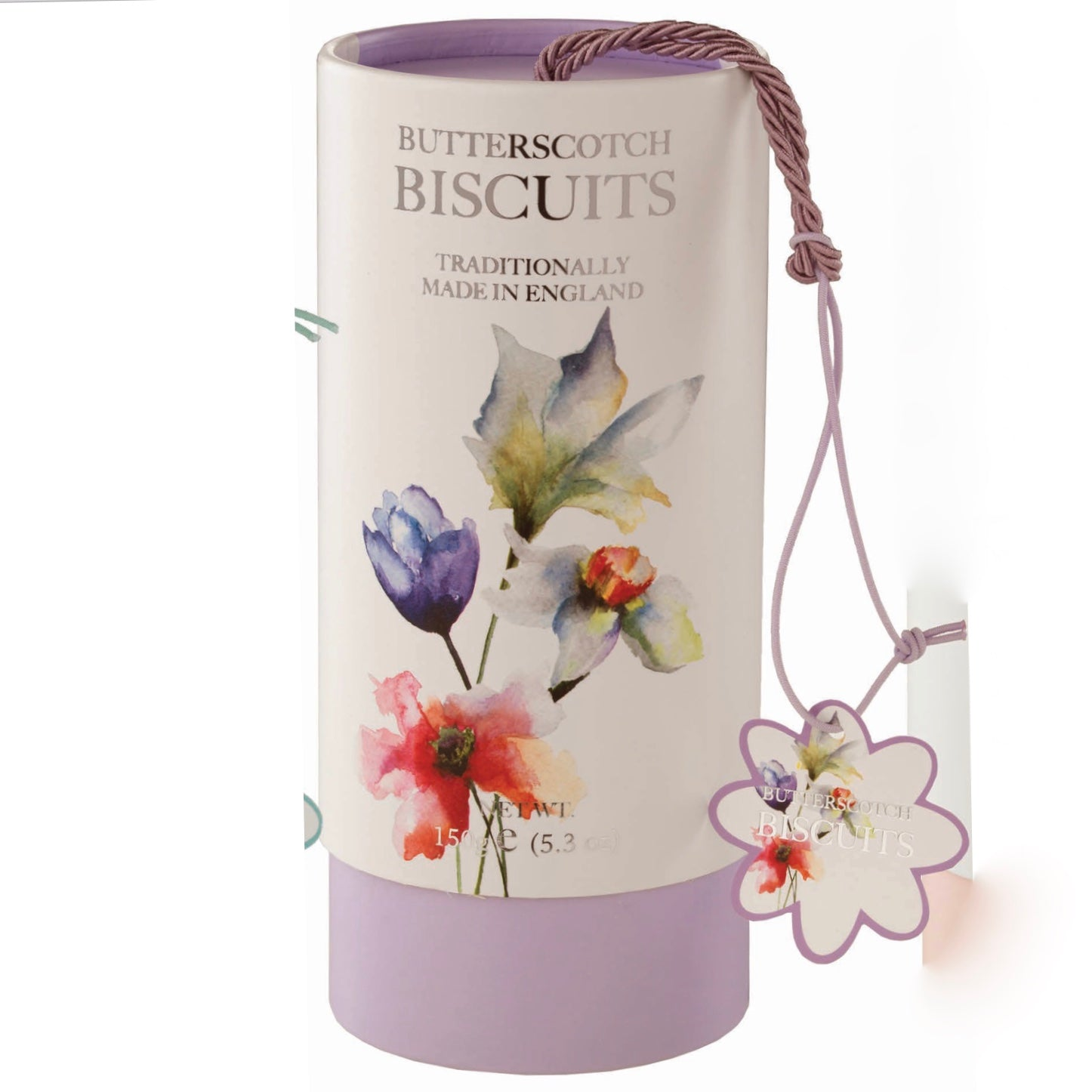 Farmhouse Floral Biscuit Canister - Butterscotch