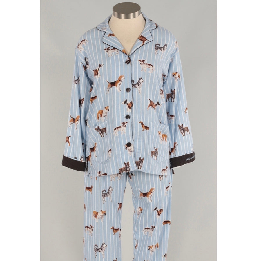 "PJ Salvage ""Doggone Tired"" Flannel PJ Set  - Putti Fine Fashions Canada"