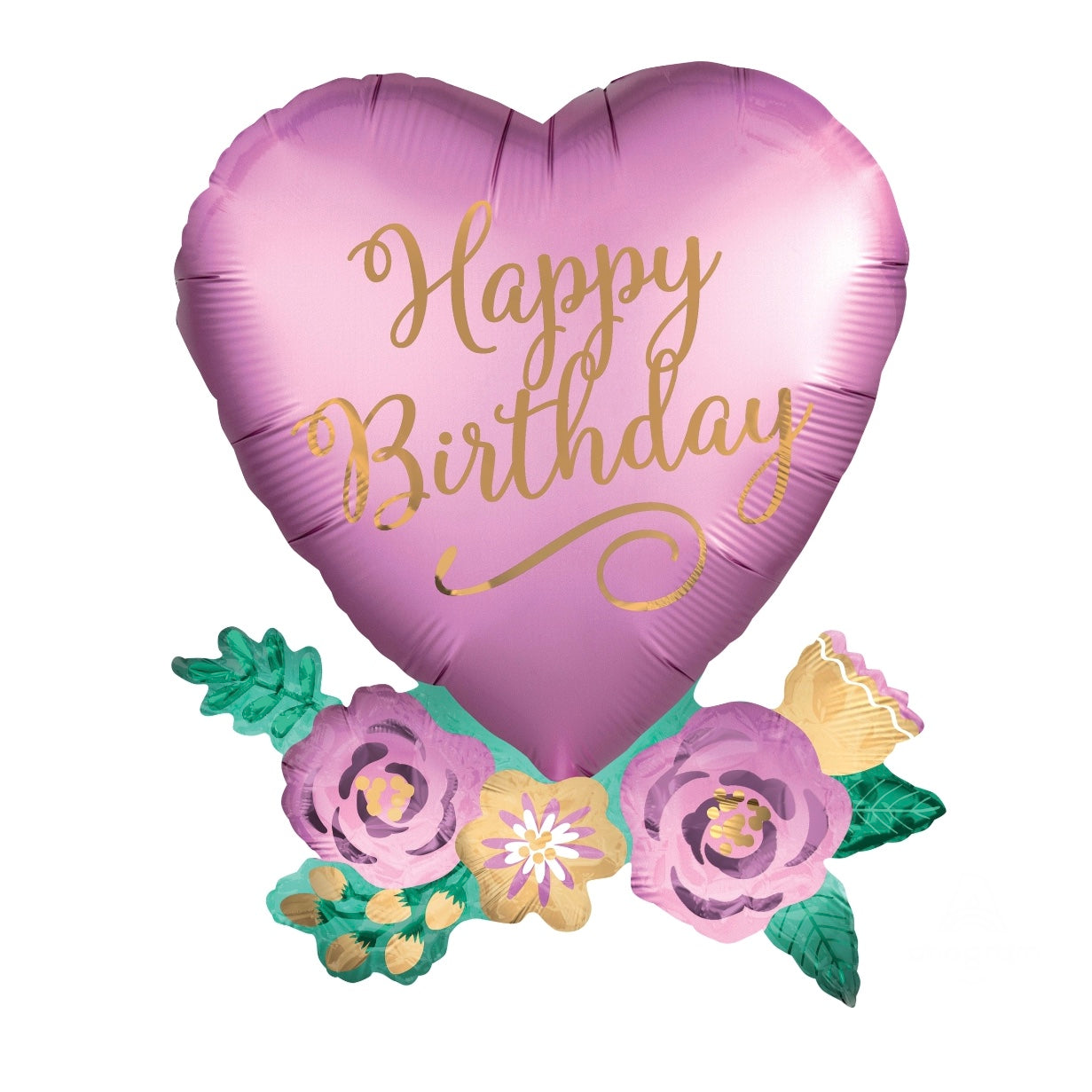 Anagram Happy Birthday Heart Mylar Balloon - Le Petite Putti Canada