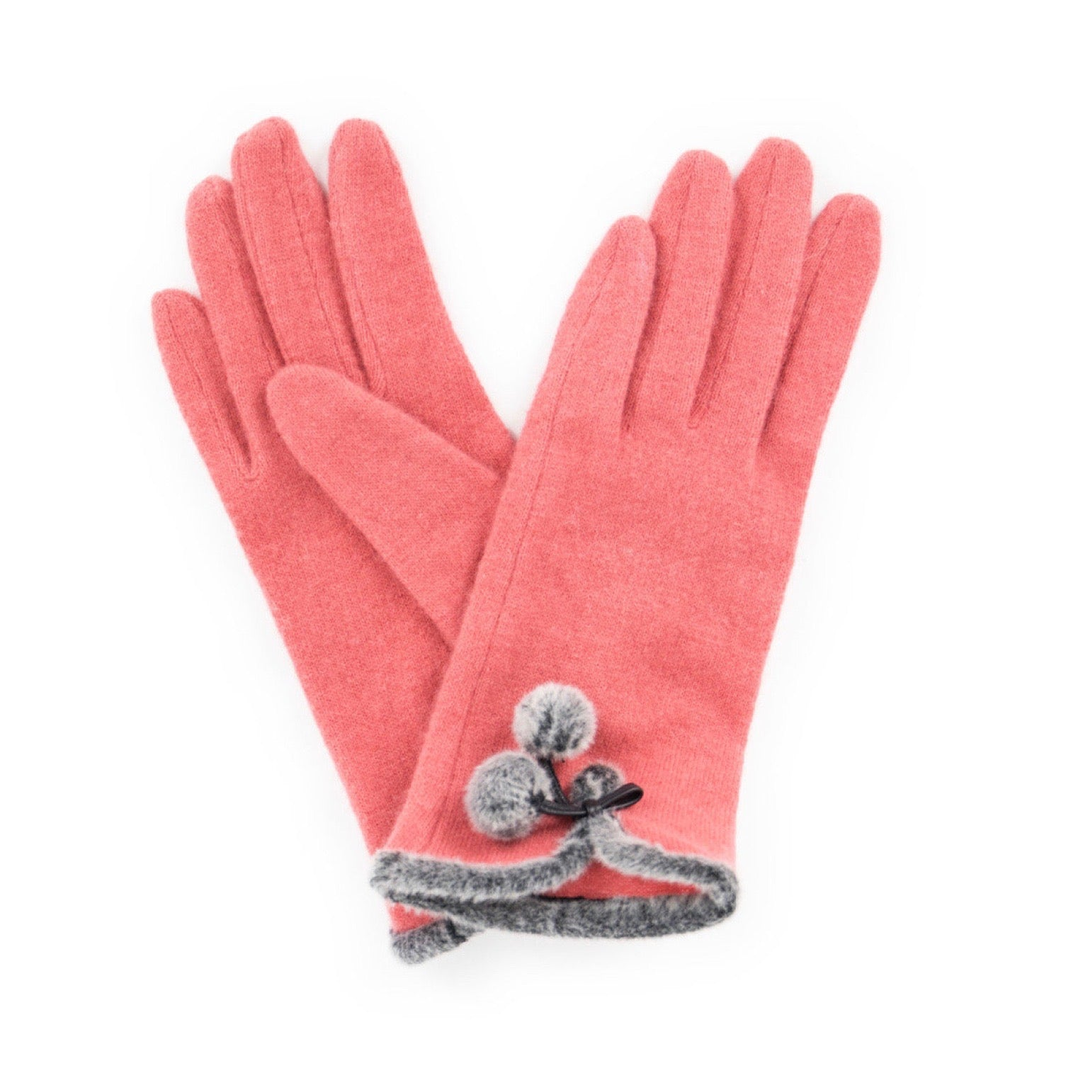 "Powder ""Betty"" Wool Gloves - Coral - Putti Fine Fashions Canada"