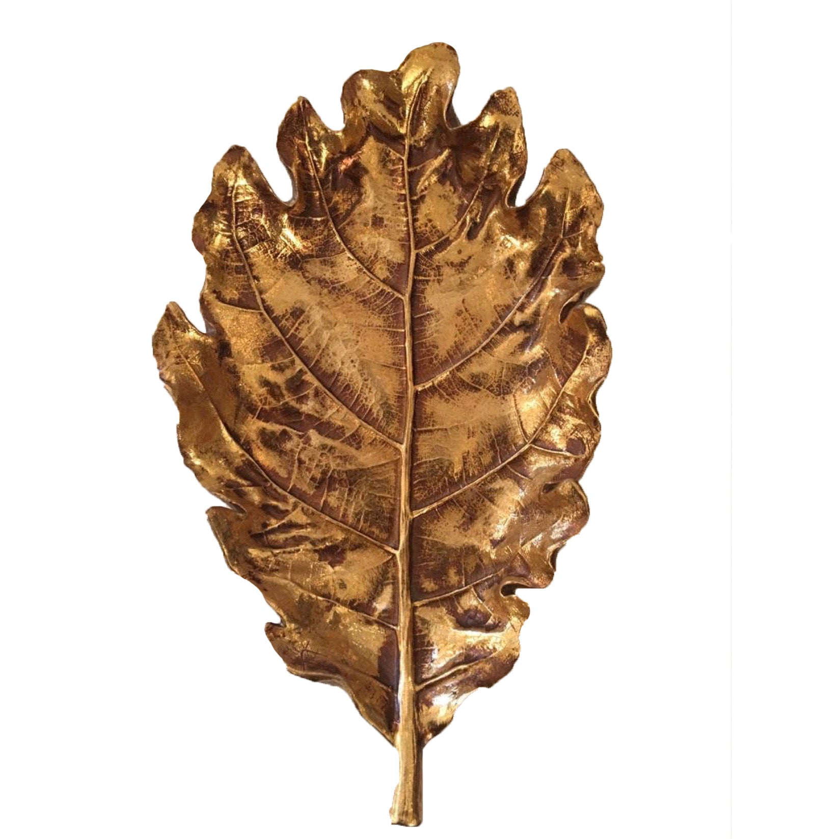 Gold Leaf Oak Leaf Dish - Putti Fine Furnishings