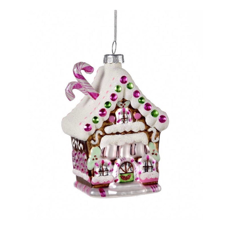 Gingerbread House Glass Ornament | Putti Christmas Celebrations