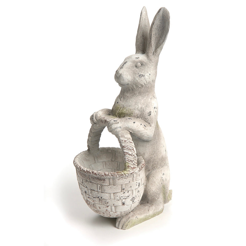 Standing Rabbit with Basket | Putti Fine Furnishings Canada