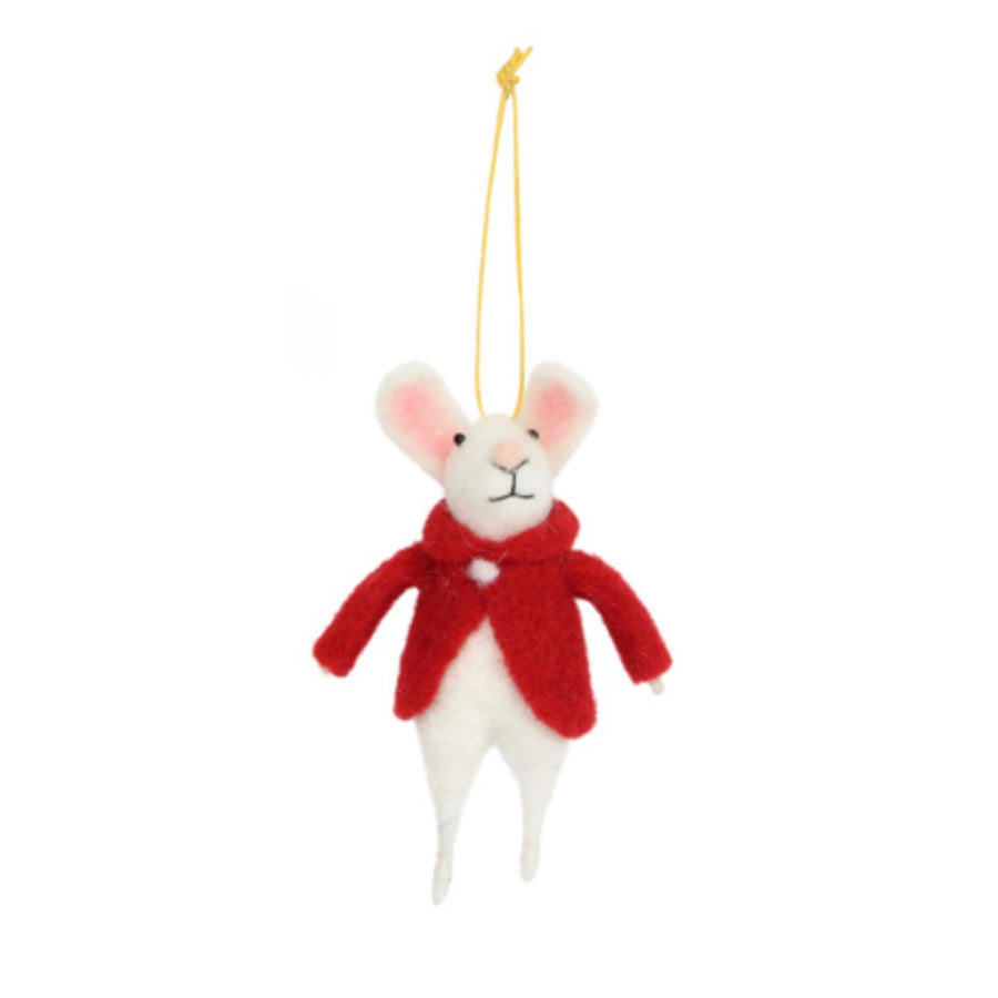 Felt Bunny with Red Jacket