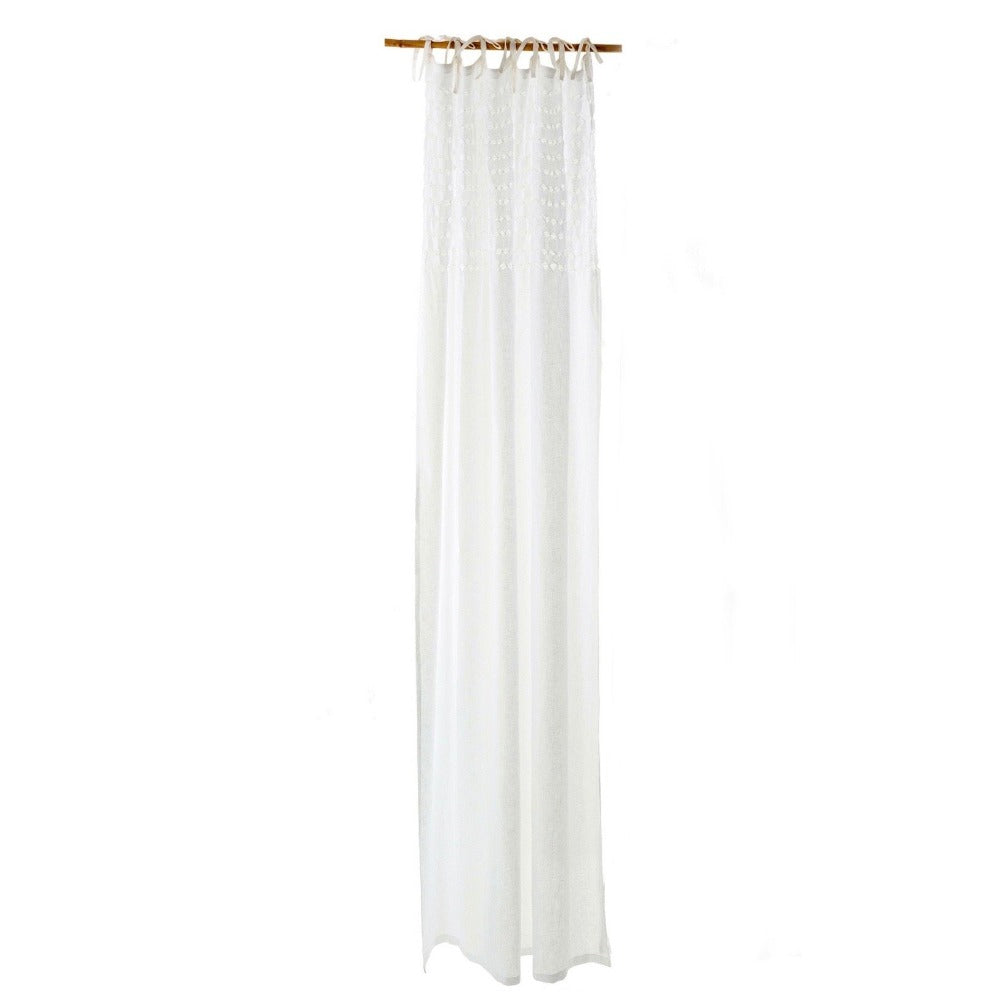 Linen Voile Curtain Panel - White | Putti Fine Furnishings