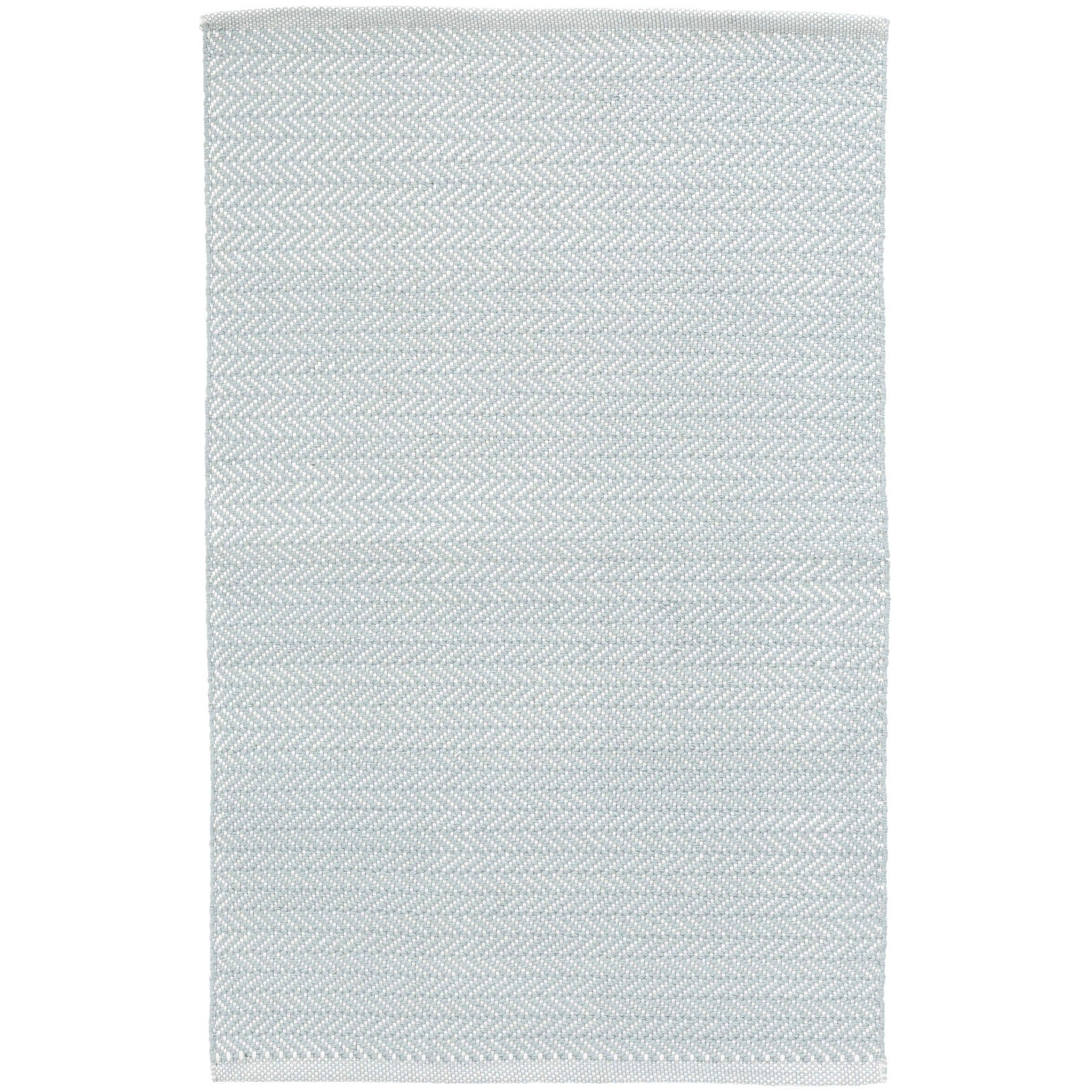 Herringbone Indoor Outdoor Rug - Light Blue / Ivory