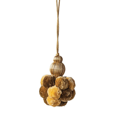 Gold Pom Pom Tassel | Putti Fine Furnishings