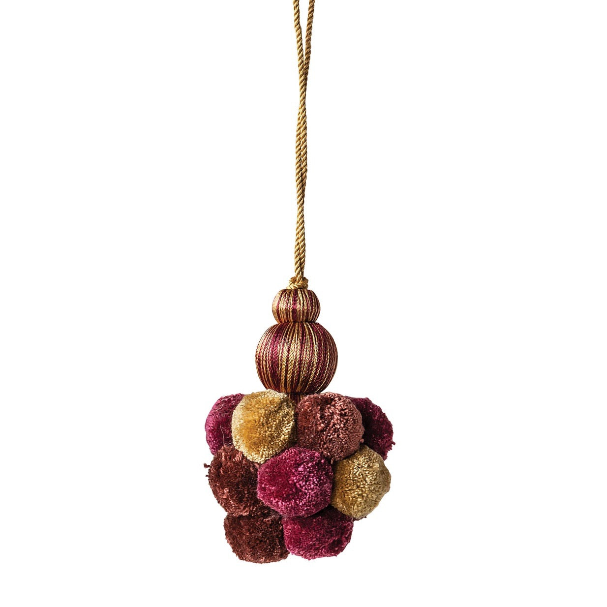 Burgundy Pom Pom Tassel | Putti Fine Furnishings