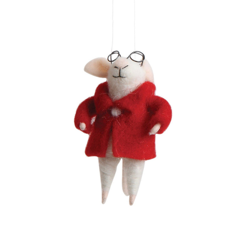 """Spectacle Stuart"" Felt Mouse 