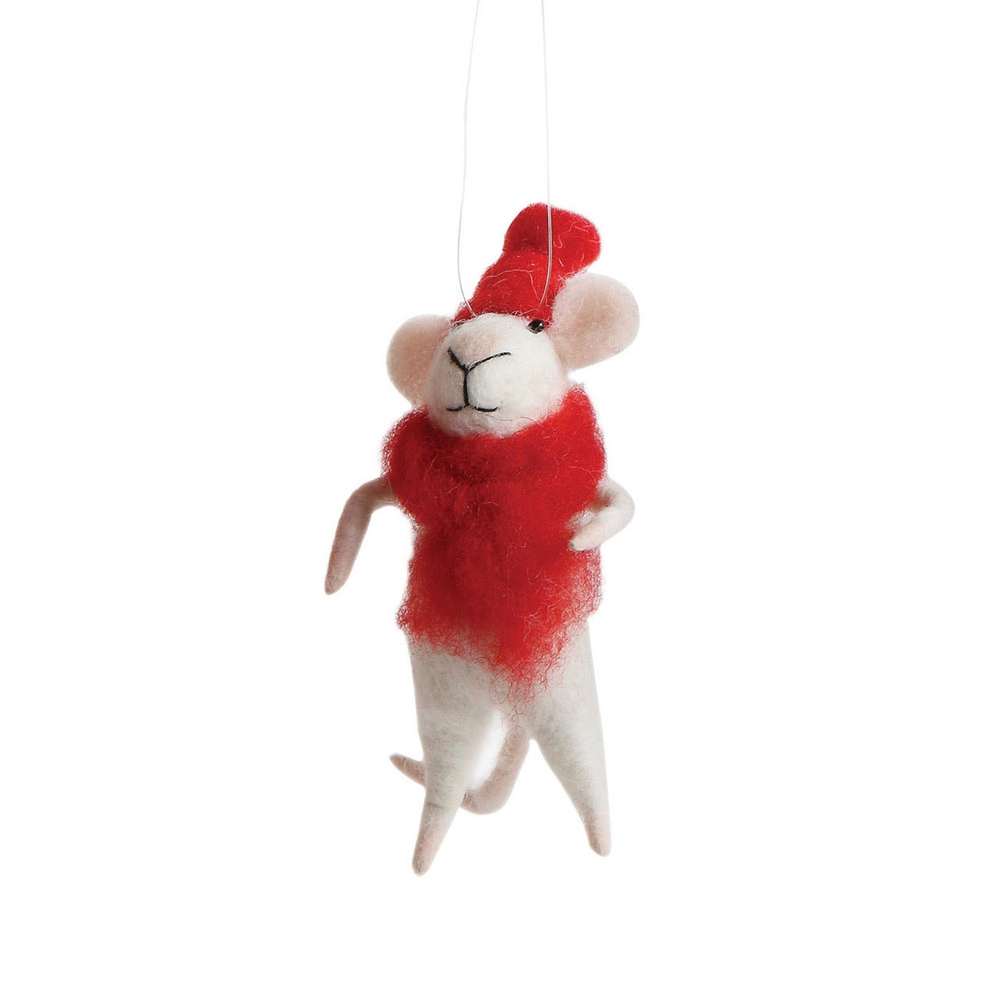 """Bundled up Bob "" Felt Mouse"