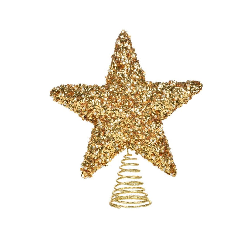 Gold Glitter Star Tree Topper | Putti Christmas Celebrations Canada