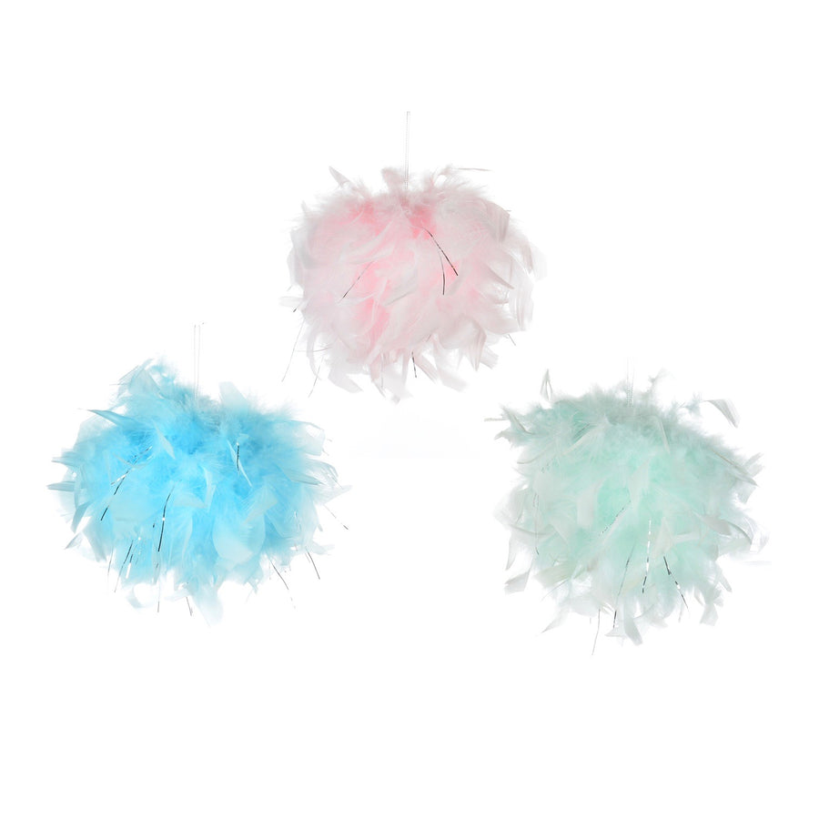 Blue Feather Pom Pom