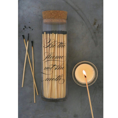 Skeem Design - Apothecary Calligraphy Fireplace Match Bottle