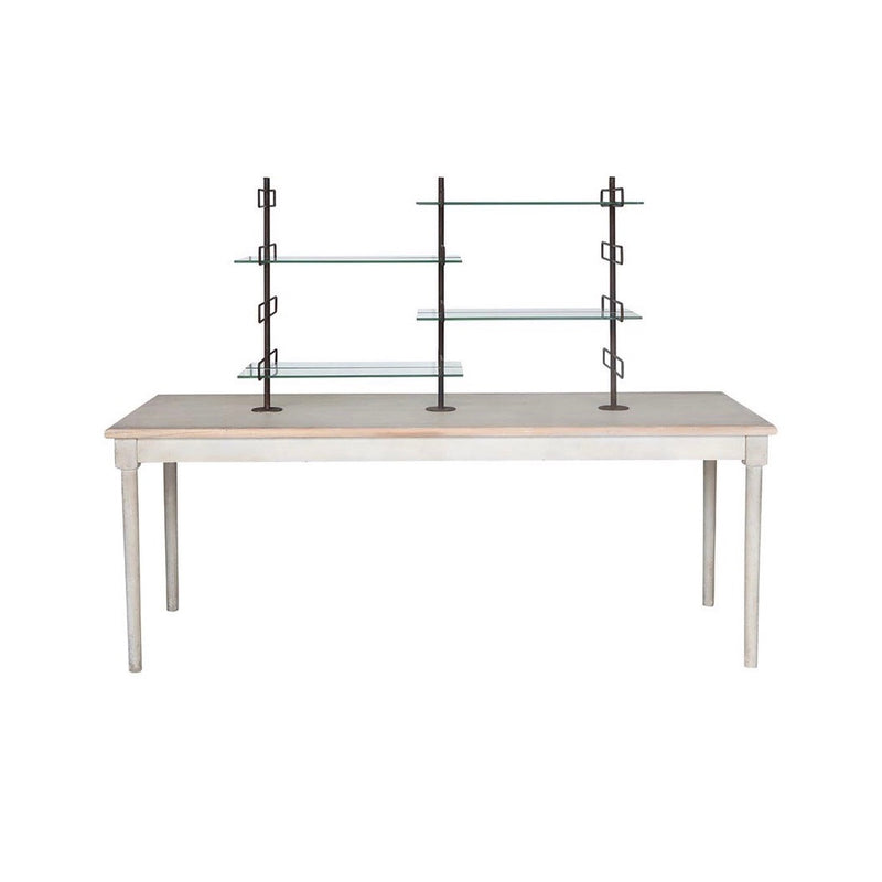 Table with Glass and Metal Shelves | Putti Fine Furnishings Canada