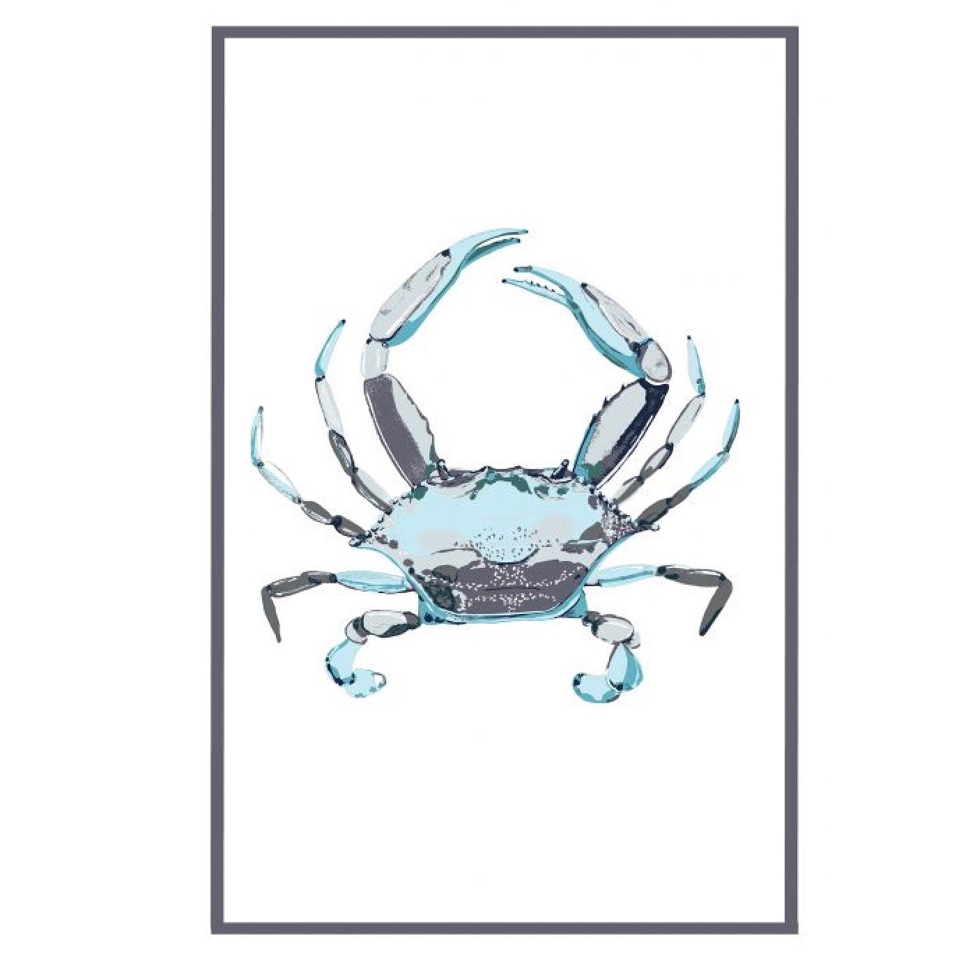 Blue Crab Flour Sack Kitchen Towel - Set of 2 |Putti Fine Furnishings