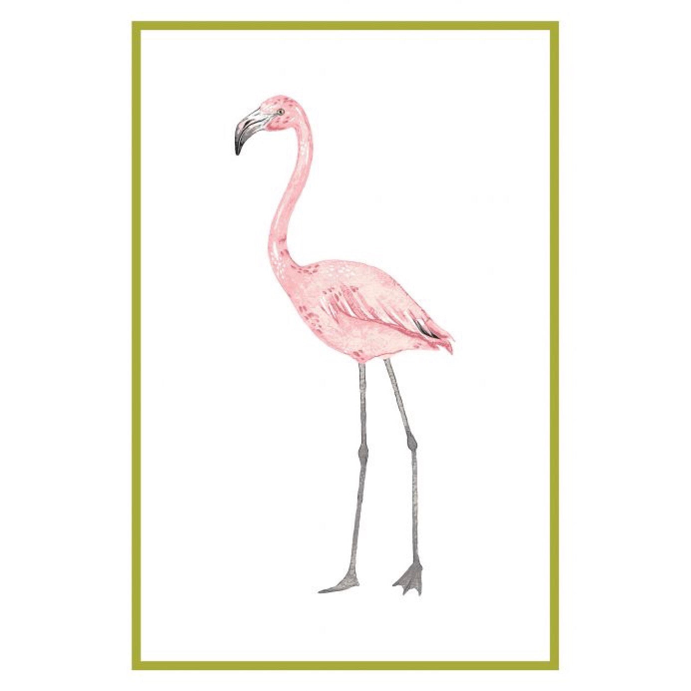 Flamingo Flour Sack Kitchen Towel - Set of 2 | Putti Fine Furnishings