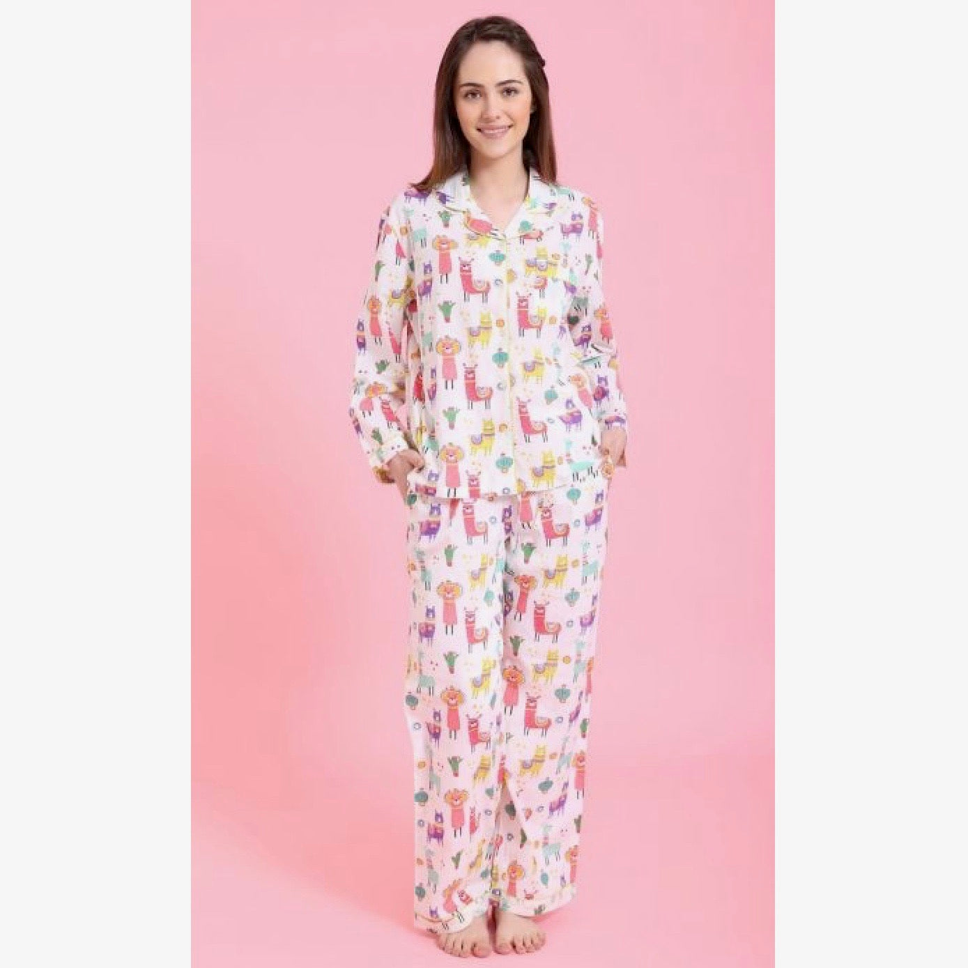 "Mahogany ""Party Llamas"" - Pyjamas 