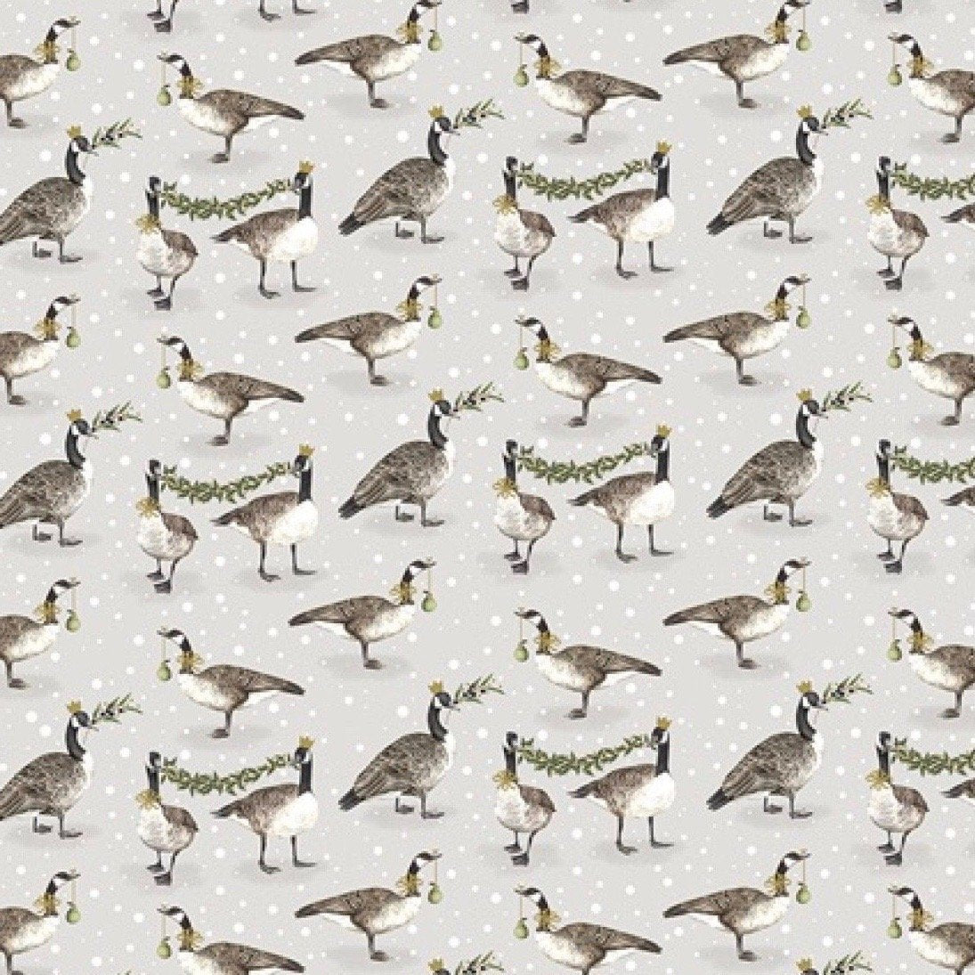 Canada Geese Christmas Sheet Wrapping Paper | Putti Christmas Celebrations
