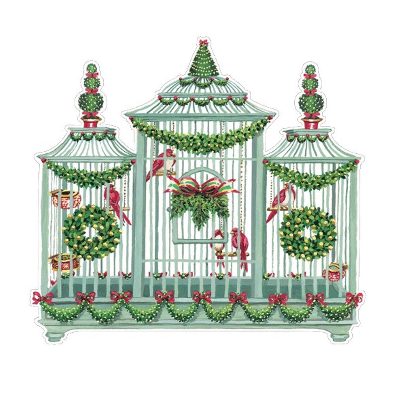 Birdcage Die Cut Christmas Placemat