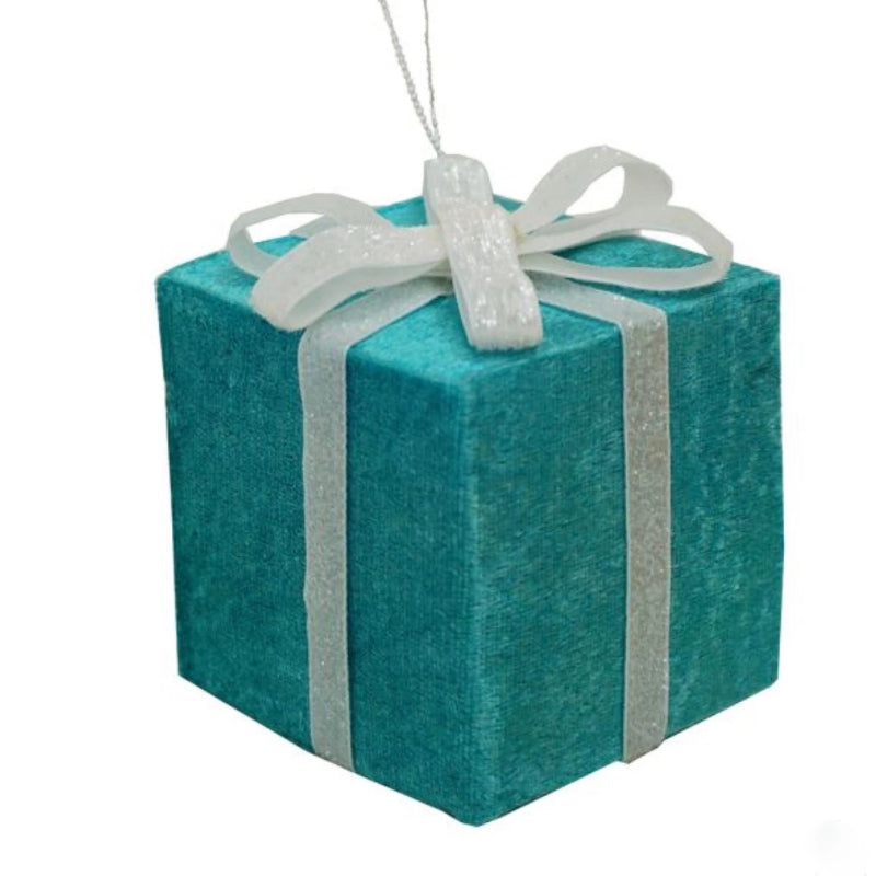 Kurt Adler Tiffany Blue Miniature Gift Box Ornament