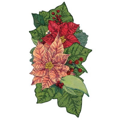 Hester & Cook Poinsettia Table Accent | Putti Christmas Canada