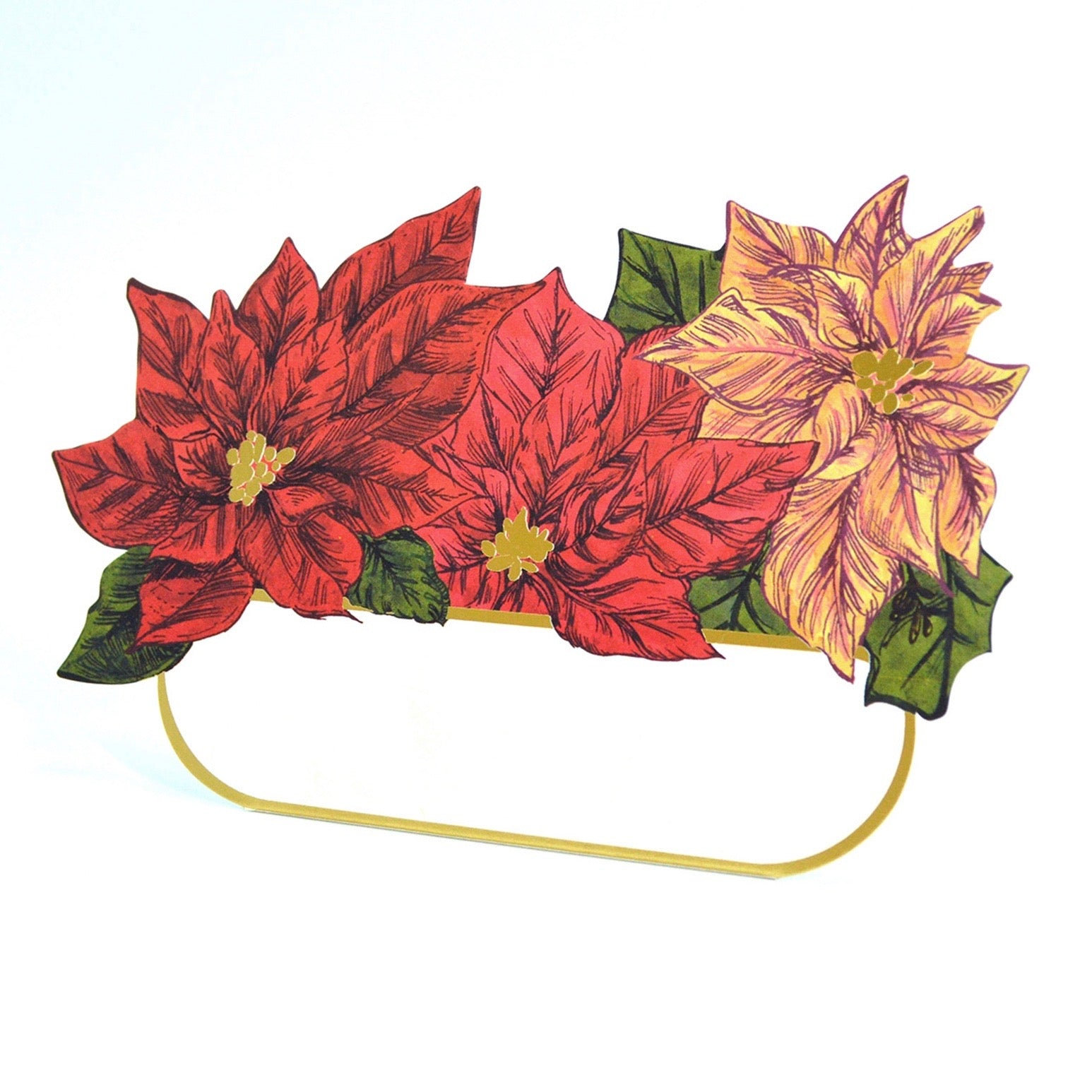 Hester & Cook Poinsettia Place Cards | Putti Christmas Canada