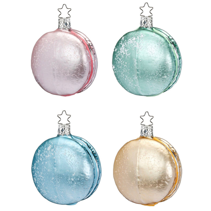 Inge Glass Macarons Handblown Glass Ornaments | Putti Christmas Canada