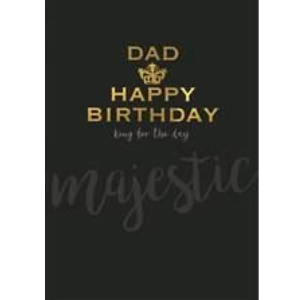 """Dad...Happy Birthday"" Black Greeting Card"
