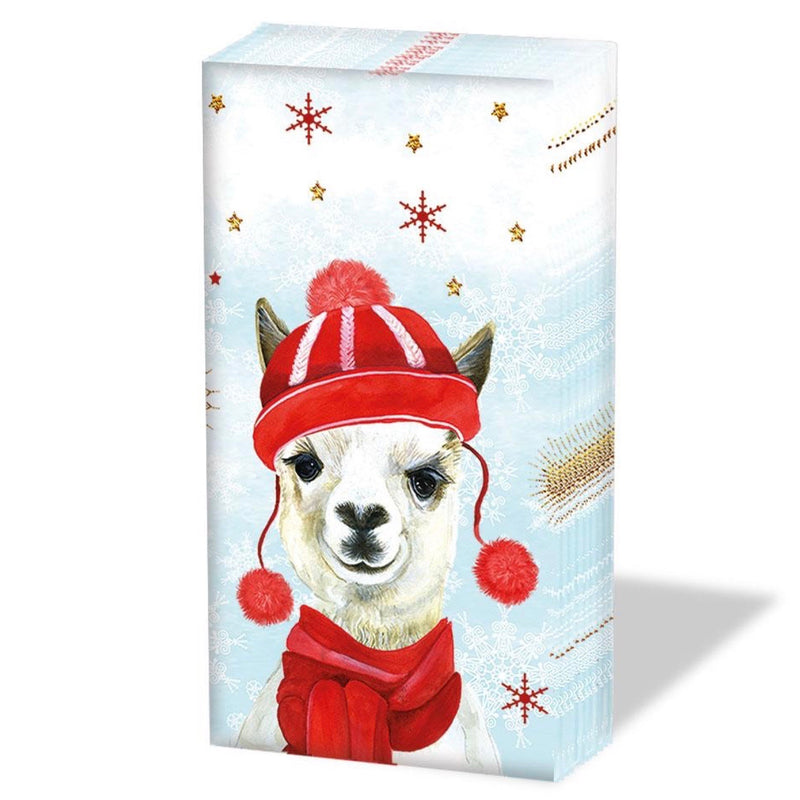 Winter Llama Christmas Pocket Tissues | Putti Christmas Canada