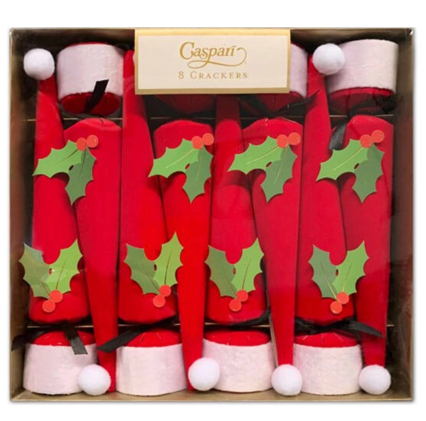 Santa Hat Cone Shaped Christmas Crackers | Putti Christmas Canada