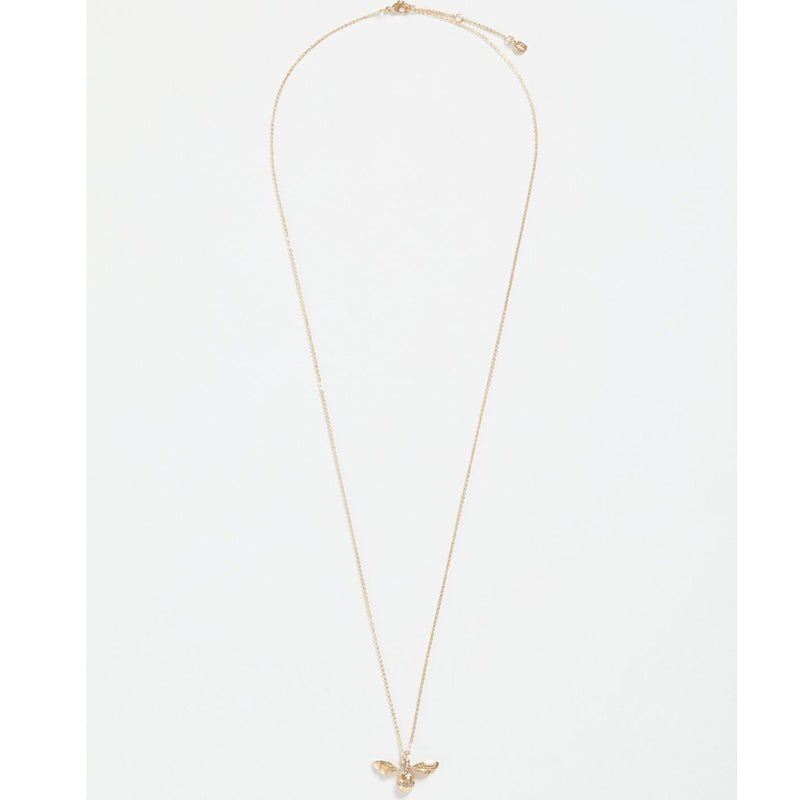 Fable Gold Pave Bee Long Necklace | Putti fine Fashions