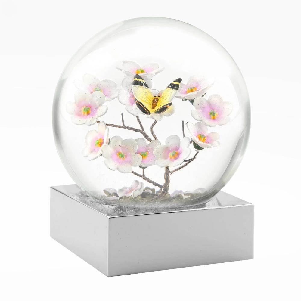 CoolSnowGlobes | Butterfly on Branch Cool Snow Globe | Putti Celebrations
