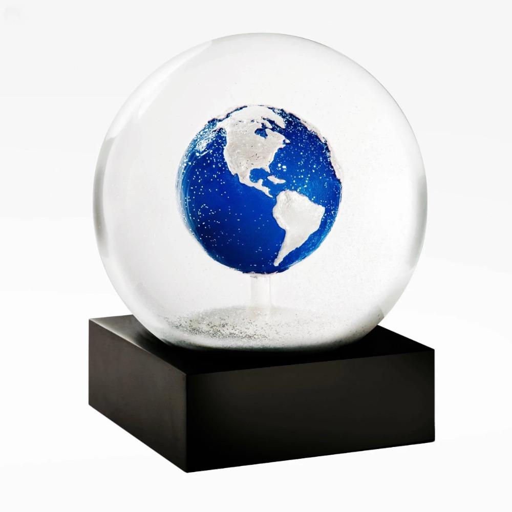 CoolSnowGlobes - Blue Earth Snow Globe