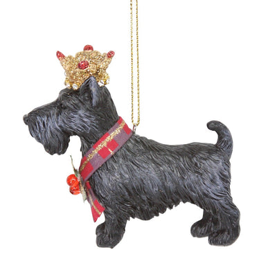 Royal Balmoral Scottie Dog with Crown Ornament | Putti Canada