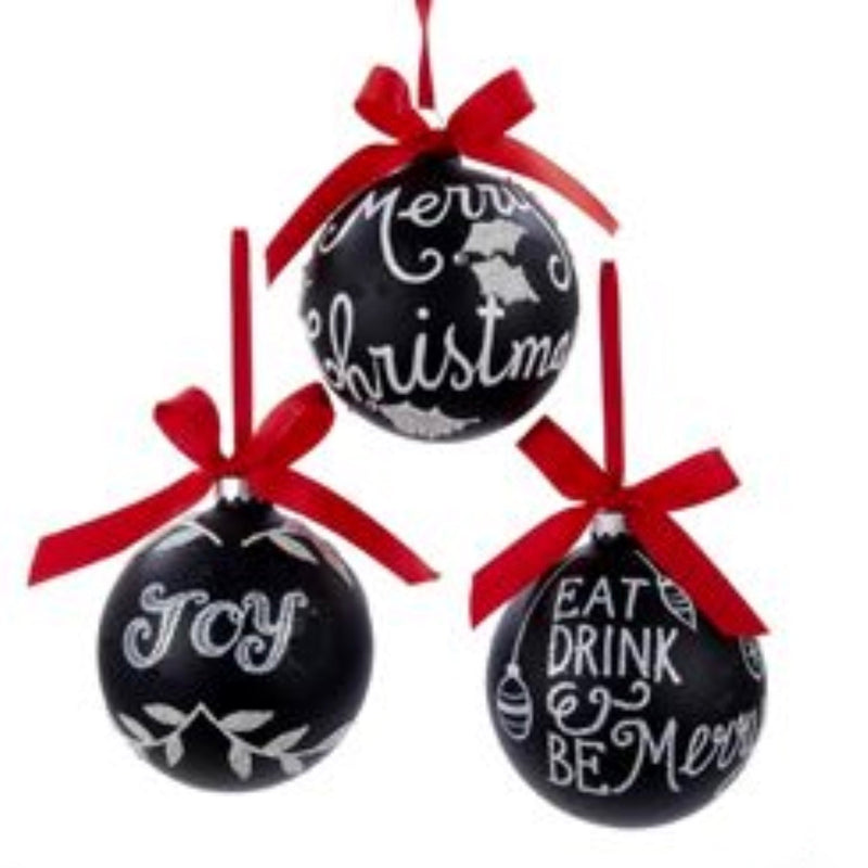 Chalkboard Paint Glass Ball Ornaments