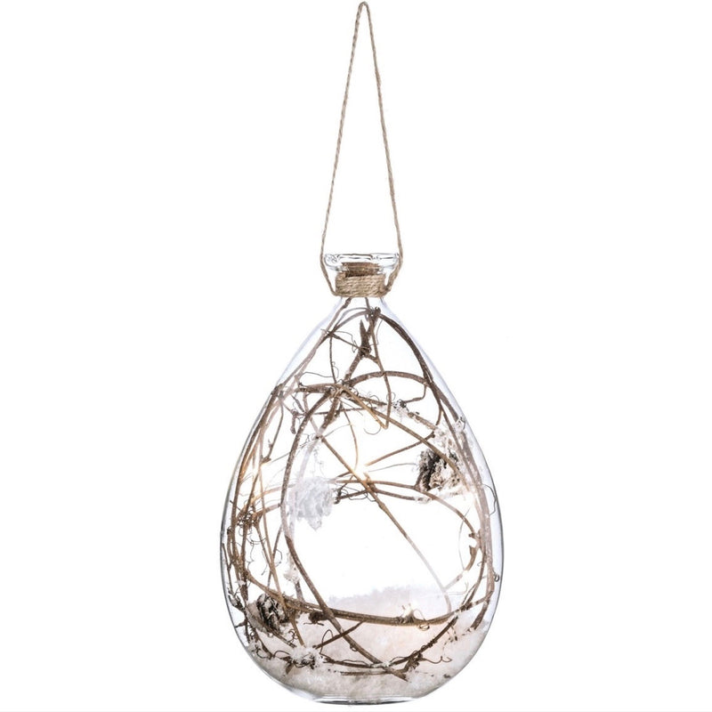 Twigs in Glass with Lights Ornament
