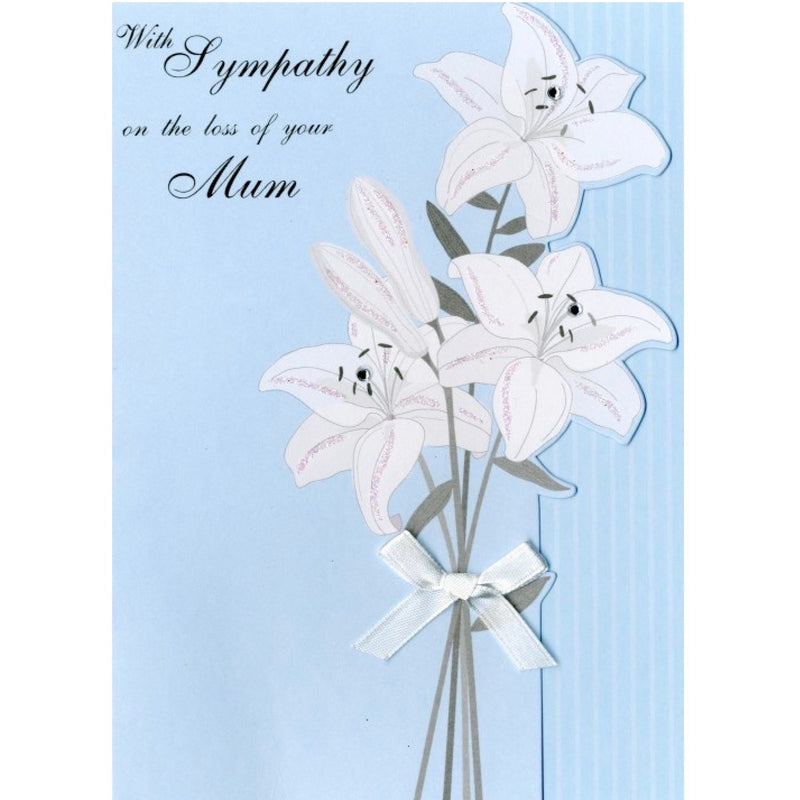"""With Sympathy on the loss of your Mum"" Greeting Card"