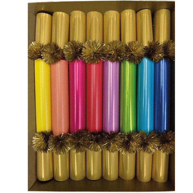Caspari Color Palette Slim Christmas Crackers | Putti Christmas