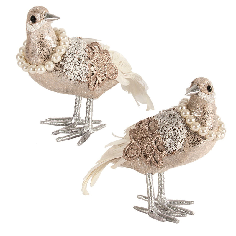 Pearl and Lace Dove | Putti Christmas Decorations