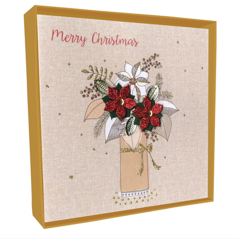"""Merry Christmas"" Poinsettia Vase Boxed Christmas Greeting Cards"
