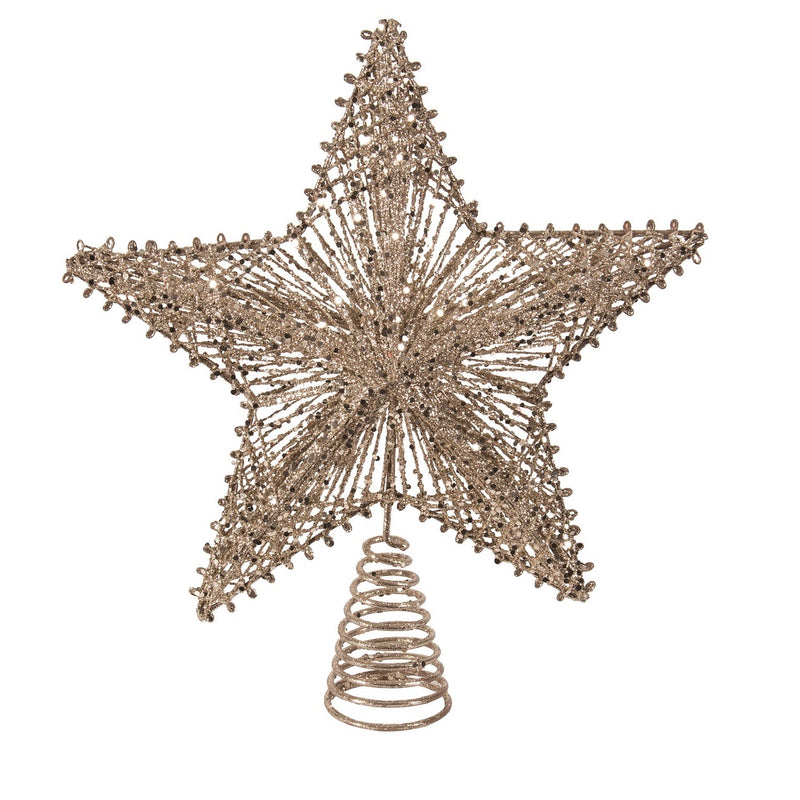 Champagne Gold String Star Christmas Tree Topper