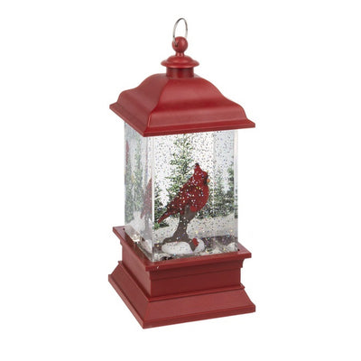 LED Light Up Shimmer Cardinal Red Lantern  | Putti Christmas Celebrations Canada