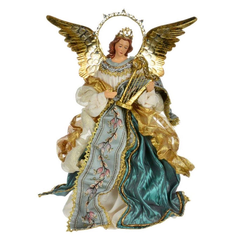 Aqua Angel with Floral Embroidery | Putti Christmas Celebrations